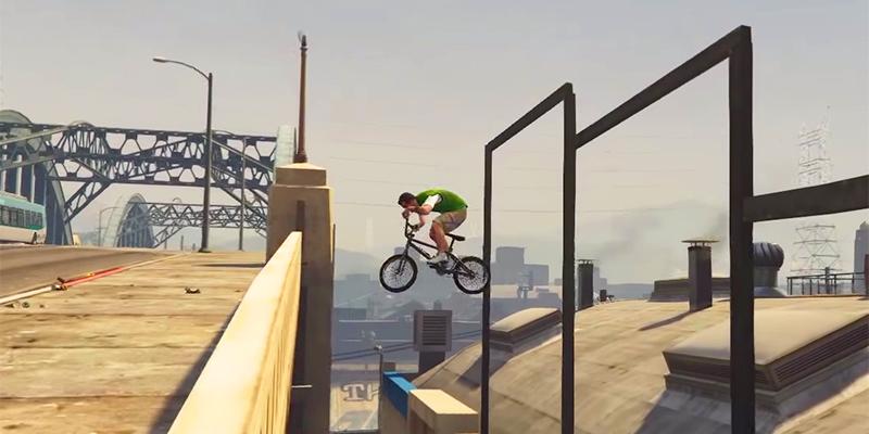Новый ролик GTA 5 продемонстрировал трюки на BMX