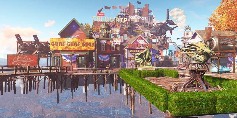 В Fallout 4 появилась Колумбия из BioShock Infinite