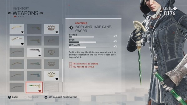 Ivory and Jade Cane-Sword