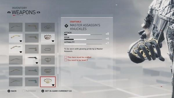 Master Assassin Knuckles