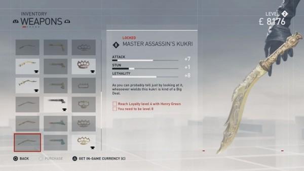 Master Assassin Kukri