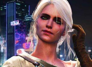 косплей Цири Cyberpunk 2077