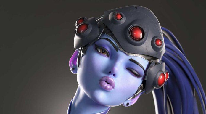 косплей Роковой вдовы из Overwatch