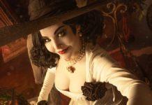 горячий косплей Леди Димитреску из Resident Evil: Village