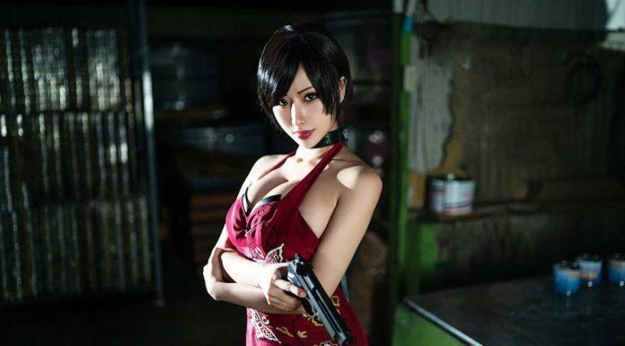 Сексуальный косплей Ады Вонг из Resident Evil 2